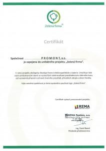 Certifikát_ZELENÁ FIRMA